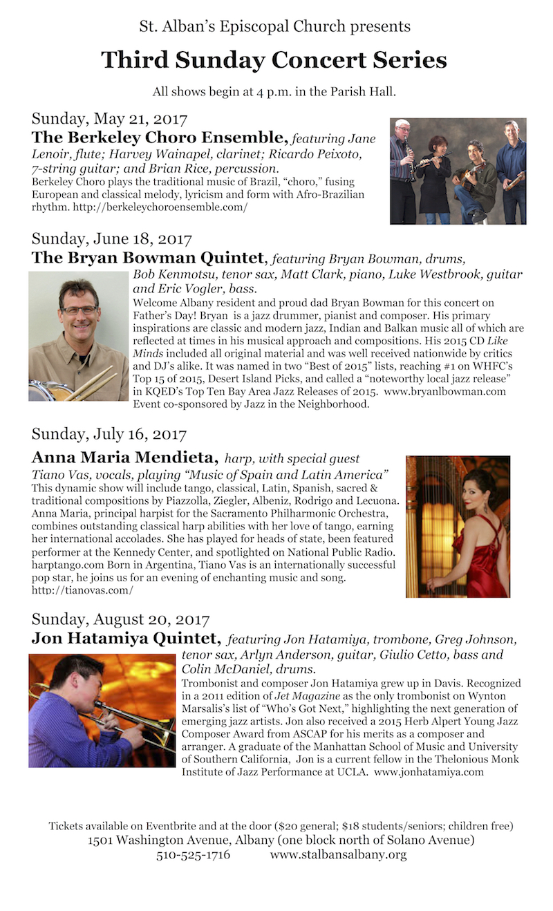 Third Sunday Concert Series May Aug 2017